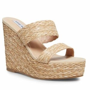 "Steve Madden ""Sunflower Natural"" Wedges"